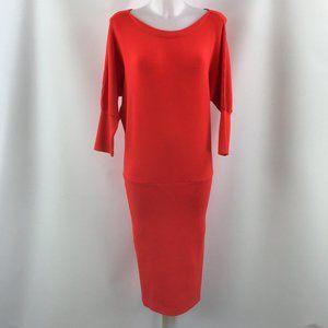 Milly Orange Long Sleeve Dress Size Large